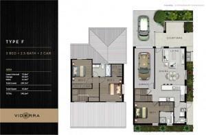 Vidorra floor plan - Type F